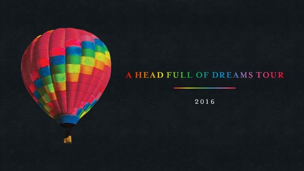 Turnê A Head Full of Dreams - Coldplay