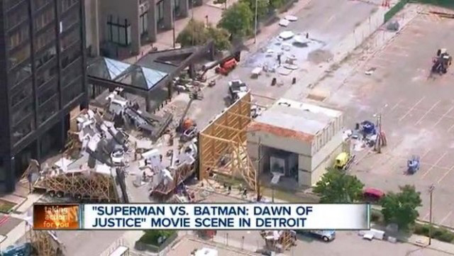 Filmagem Batman vs Superman em Detroit