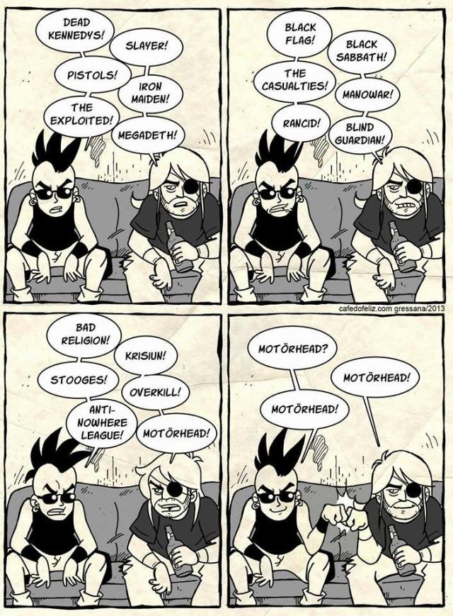 Quando o assunto é rock, todos concordam com Motorhead
