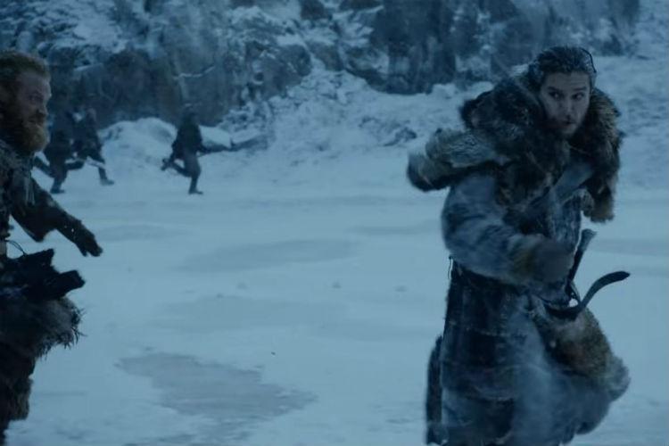 Jon correndo de zumbis - Game of Thrones S07E06