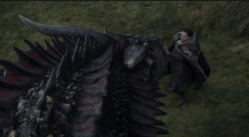 Jon e Drogon - Game of Thrones S07E05