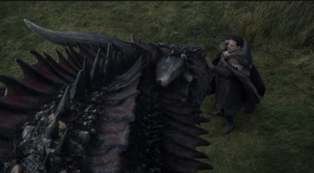 Jon e Drogon - Game of Thrones S07E05