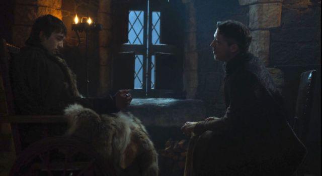 Mindinho e Bran em Winterfell -Game Of Thrones S07E04