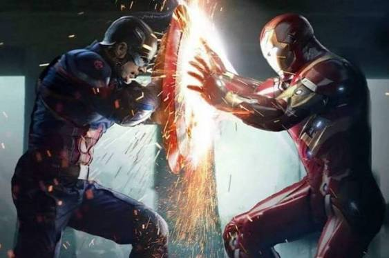 Capitão América vs Homem de Ferro